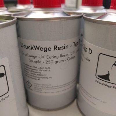 DruckWege Typ D UV Resin sample