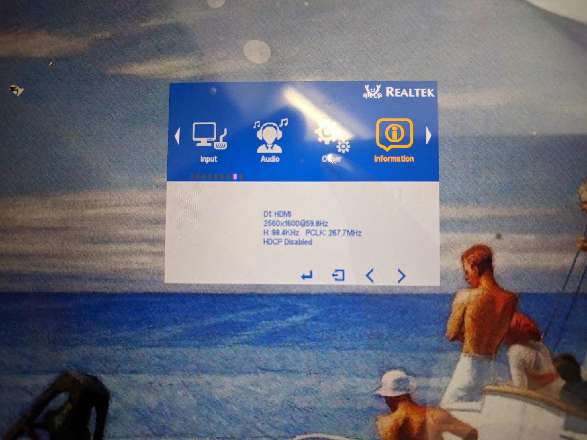 """10.1"""" LCD Menu Specifications"""