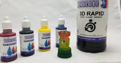 Monocure3d cmyk pigment set test