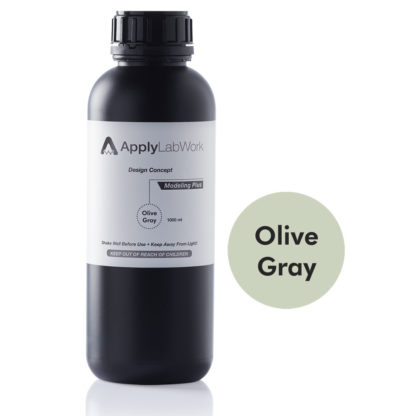 ApplyLabWorks Modeling Plus Olive Gray resin bottle