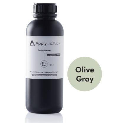 ApplyLabWorks Modeling Plus Olive Gray resin bottle