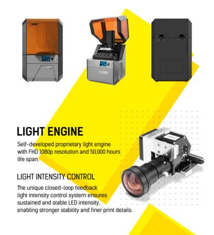 Flashforge hunter 3D Printer Light Engine DLP