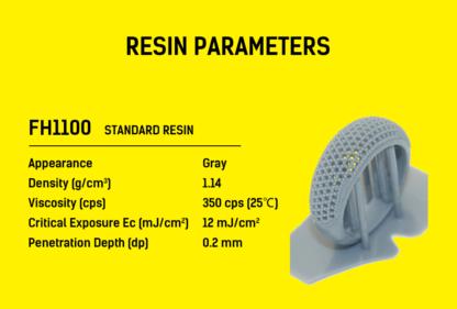 Flashforge hunter 3D Printer Resin parameters