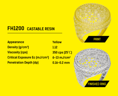 Flashforge hunter 3D Printer Resin Jewellry resin