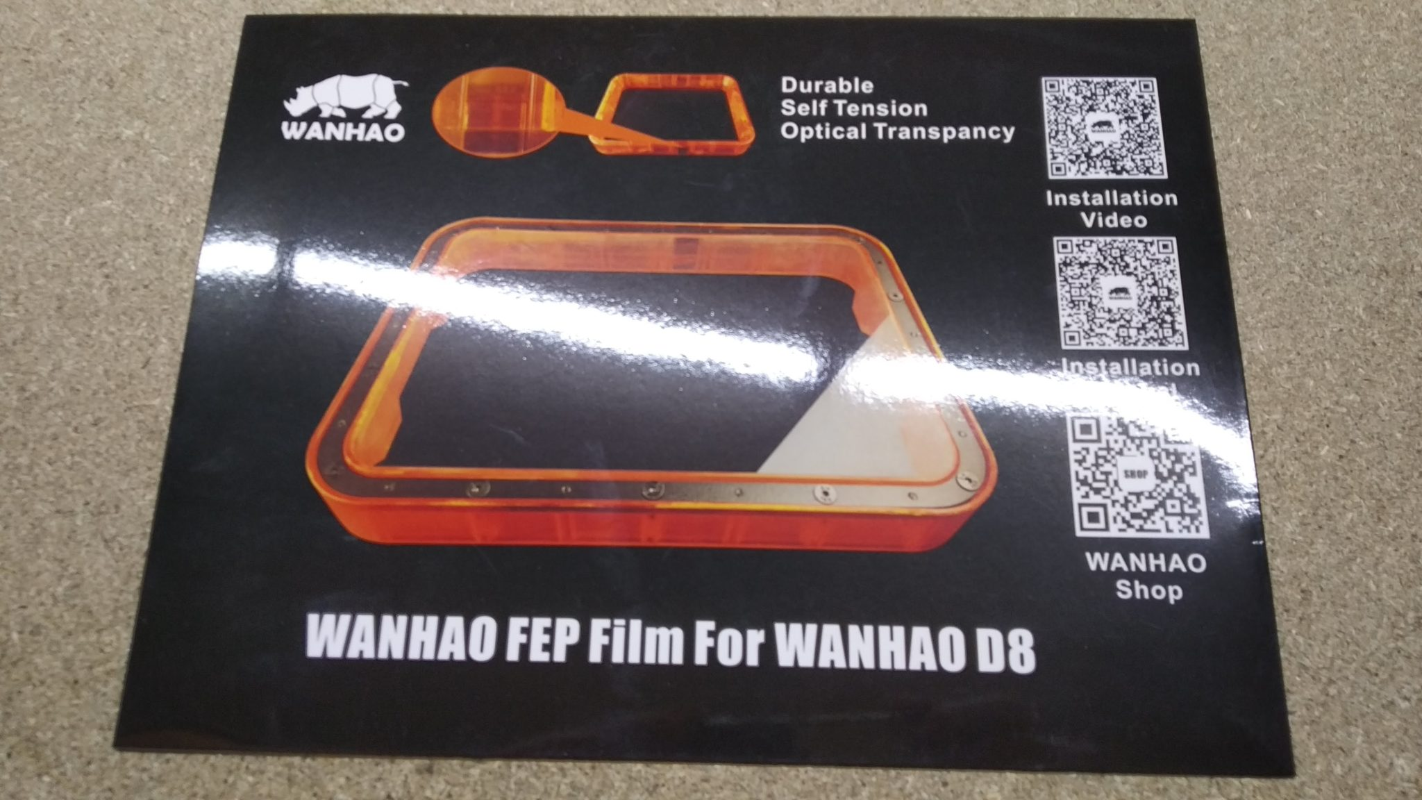 Wanhao D8 FEP
