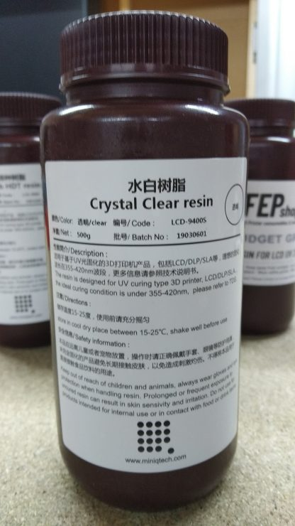 MiniQ LCD-9400s Crystal clear UV resin