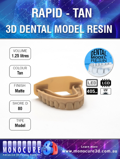 Monocure 3D Rapid Dental Tan