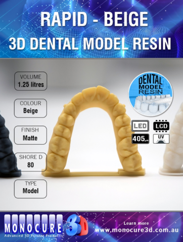 Monocure 3D Rapid Dental Beige