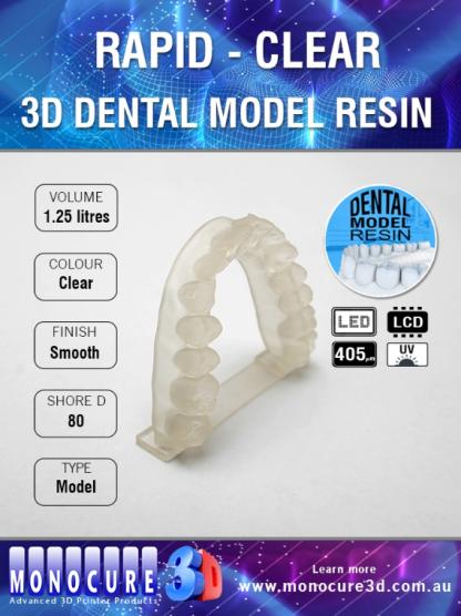 Monocure 3D Rapid Dental Clear