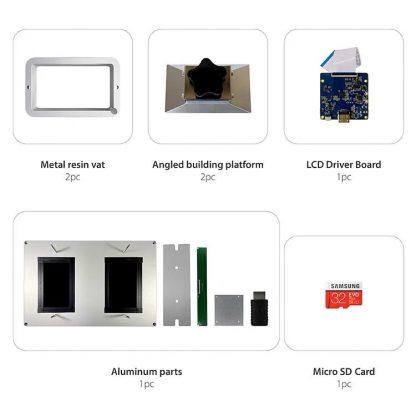 "Phrozen Transform Dual 5.5"" LCD Module contents"