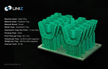 Uniz Slash Plus 3D Printer Dental