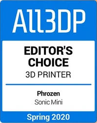 All3dp Editors choice Resin 3D Printer 2020