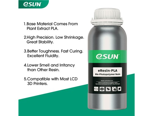 UV 405nm 1KG White eSUN General Purpose Standard Photopolymer Resin for LCD 3D Printers
