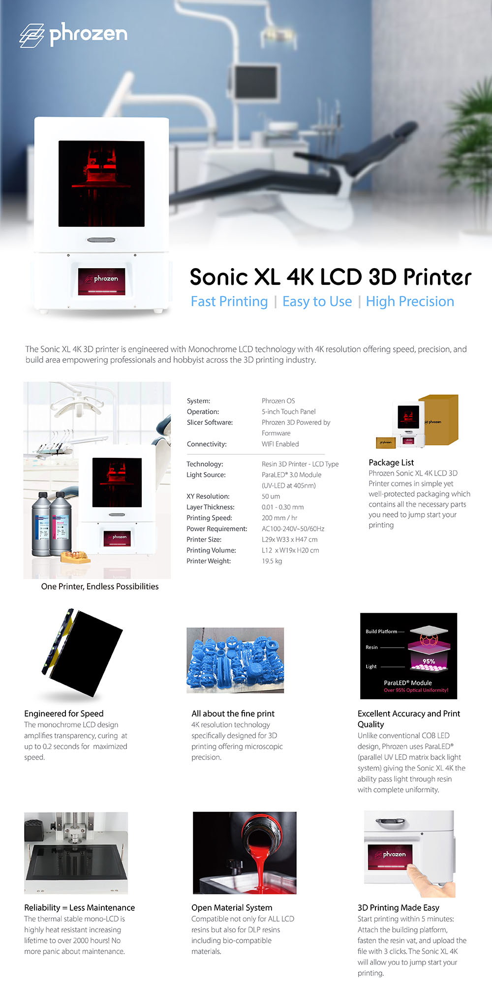 Phrozen Sonic XL 4K 3D Printer