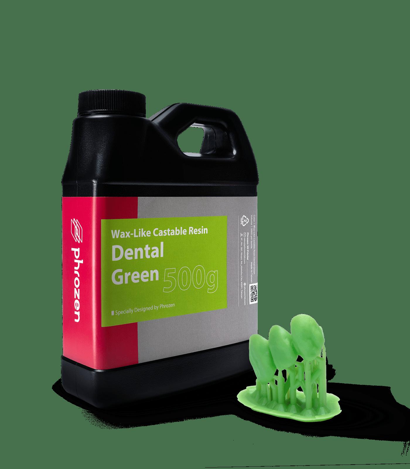 Phrozen Wax like Castable Resin Dental Green 0,5kg