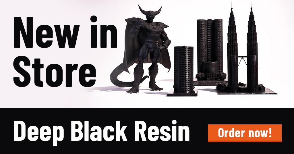 MonoCure3D Deep Black resin
